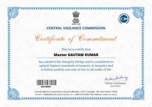 vigilence certificate